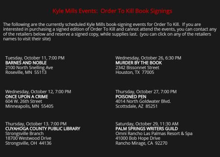 Kyle Mills Bok tour 2016